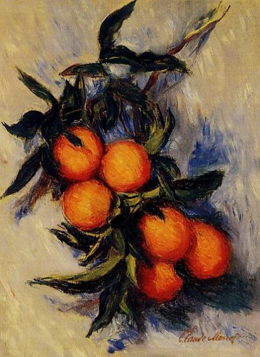 Branch of Orange Bearing Fruit. Клод Оскар Моне