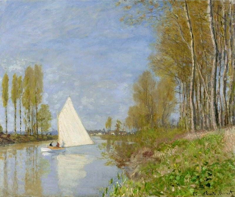 Small Boat on the Small Branch of the Seine at Argenteuil. Клод Оскар Моне