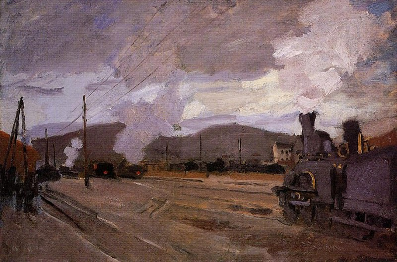 The Railroad Station at Argenteuil. Claude Oscar Monet
