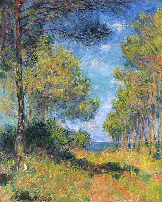 Path at Varengeville. Claude Oscar Monet