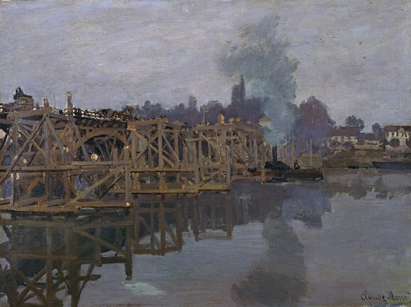 The Bridge under Repair. Claude Oscar Monet