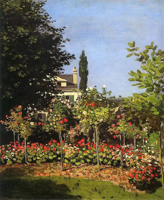 Garden in Bloom at Sainte-Addresse, 1866. JPG. Claude Oscar Monet