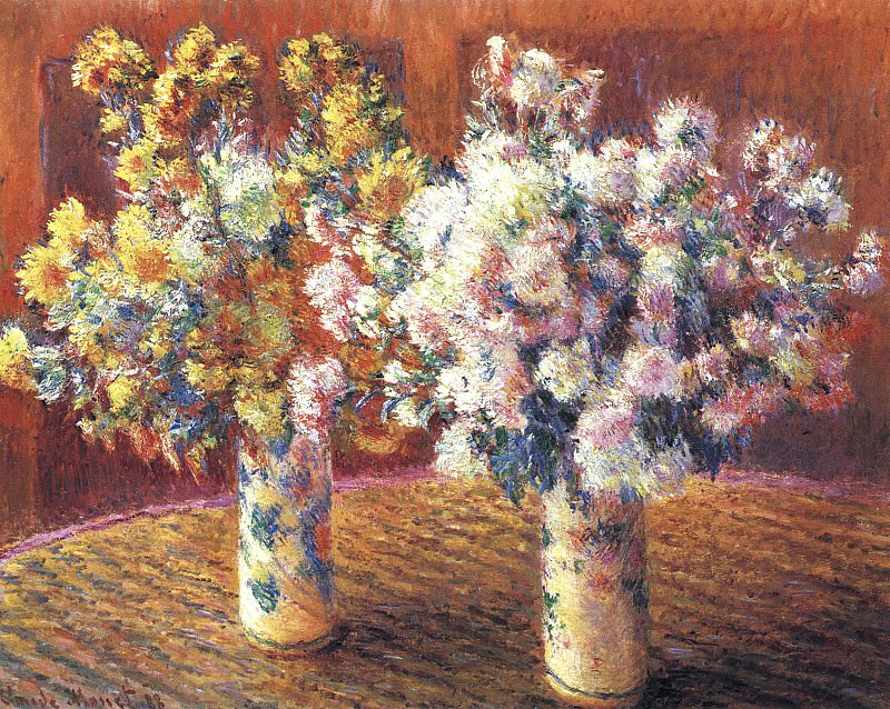 Two Vases with Chrysanthems. Claude Oscar Monet