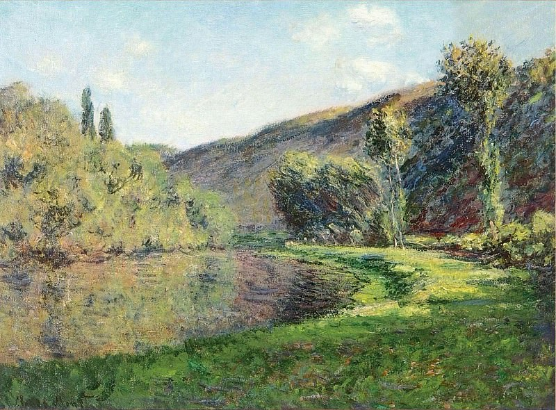 The Arm of the Siene at Jeufosse, Afternoon. Claude Oscar Monet