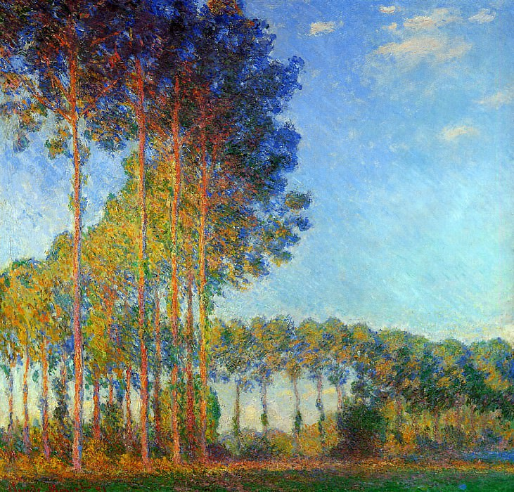 Poplars on the Banks of the River Epte, Seen from the Marsh, 1891-92. jpeg. Клод Оскар Моне