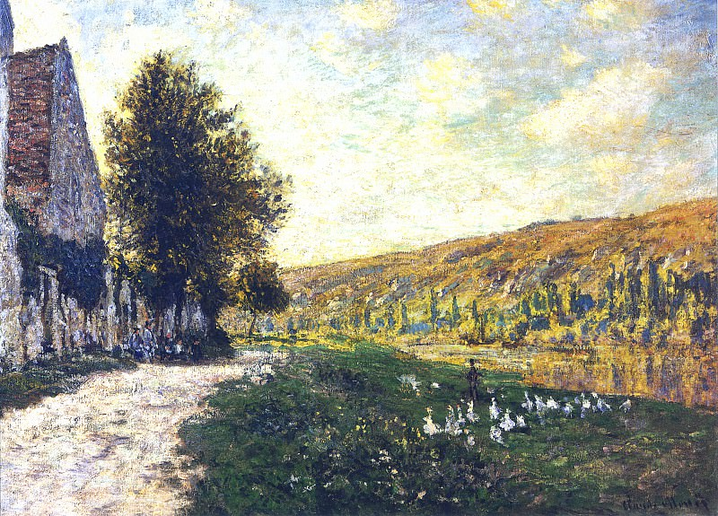 The Banks of the Seine, Lavacourt 02. Claude Oscar Monet
