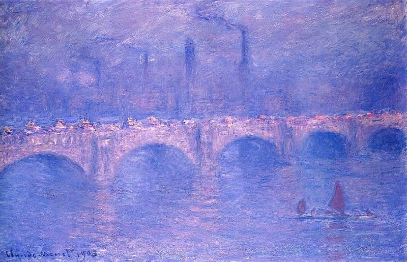Waterloo Bridge, Hazy Sun. Claude Oscar Monet