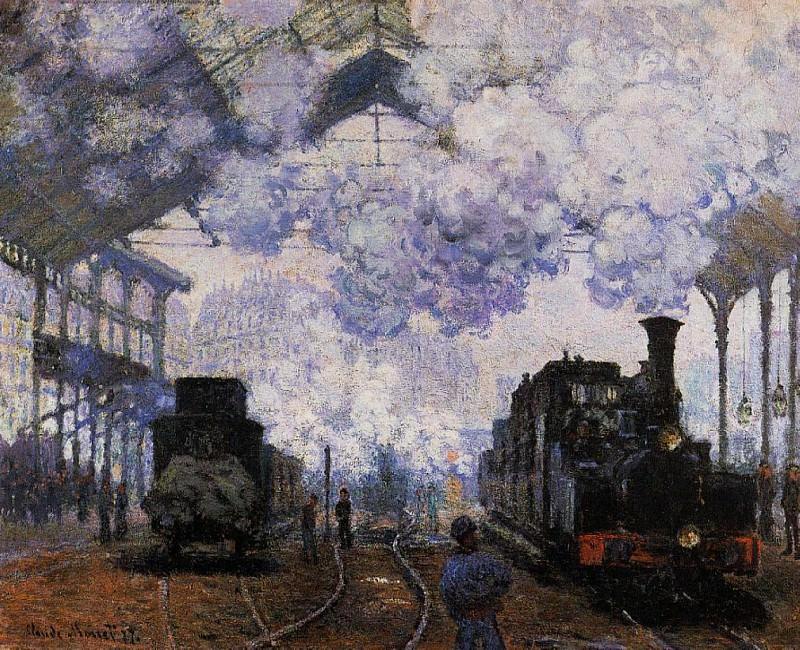 Saint-Lazare Station, Exterior. Claude Oscar Monet
