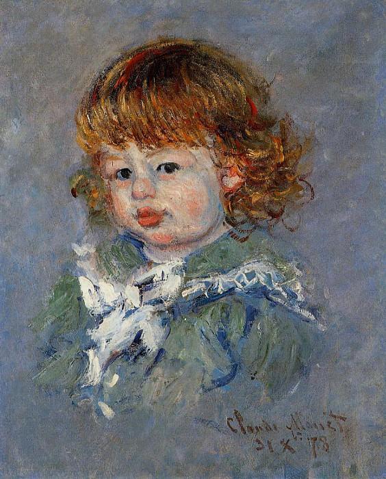 Jean-Pierre Hoschede, called 'Bebe Jean'. Claude Oscar Monet