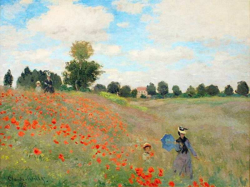 Poppies Near Argenteuil. Claude Oscar Monet