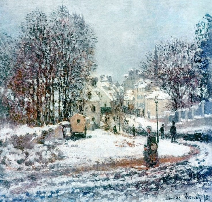 The Grand Street Entering to Argenteuil, Winter. Claude Oscar Monet