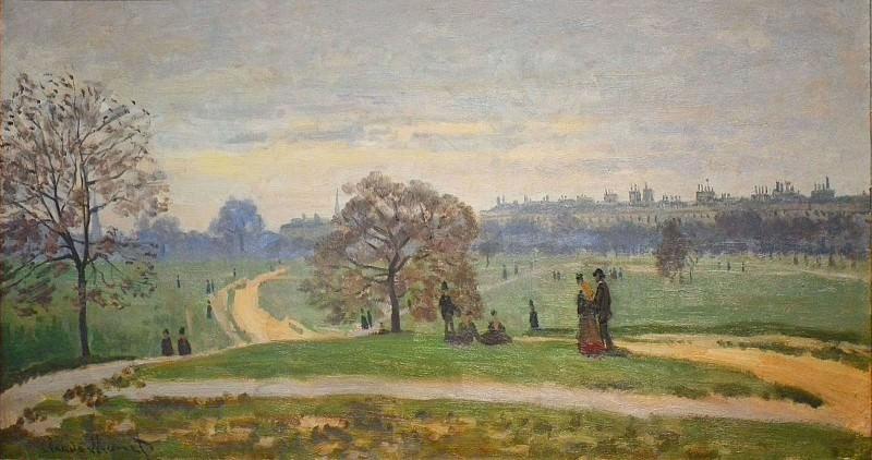 Hyde Park, London. Claude Oscar Monet