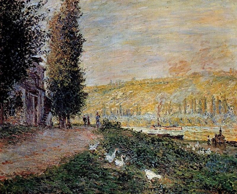 The Banks of the Seine, Lavacourt. Клод Оскар Моне