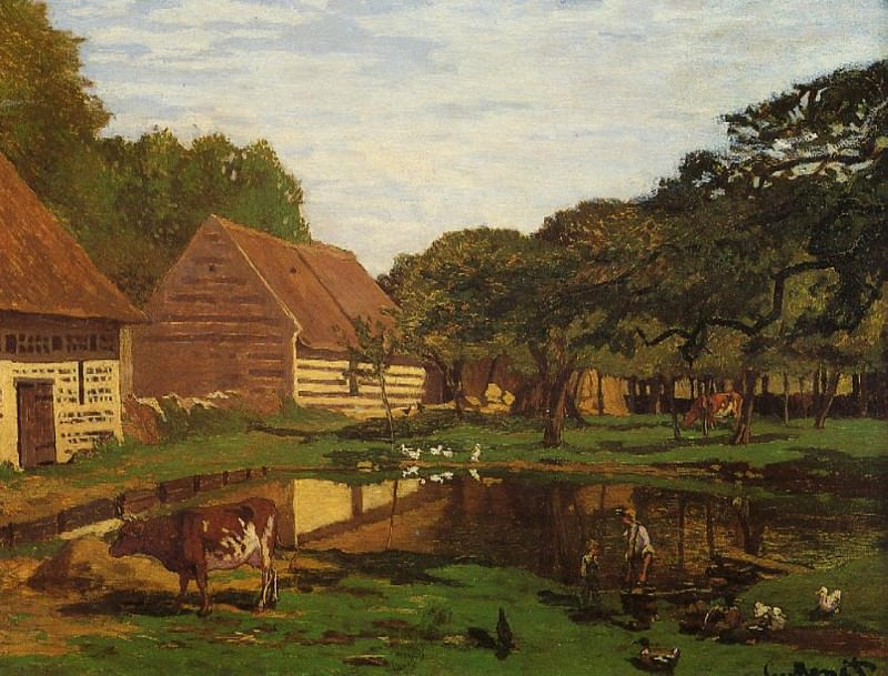 Farmyard in Normandy. Claude Oscar Monet