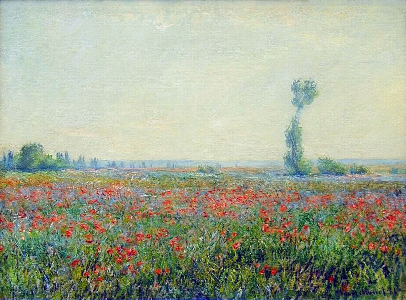 Poppy Field. Claude Oscar Monet