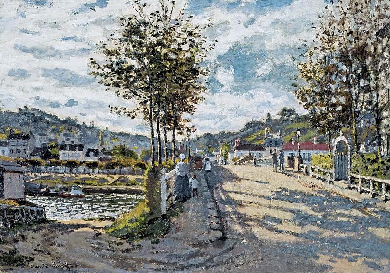 The Bridge at Bougival. Claude Oscar Monet
