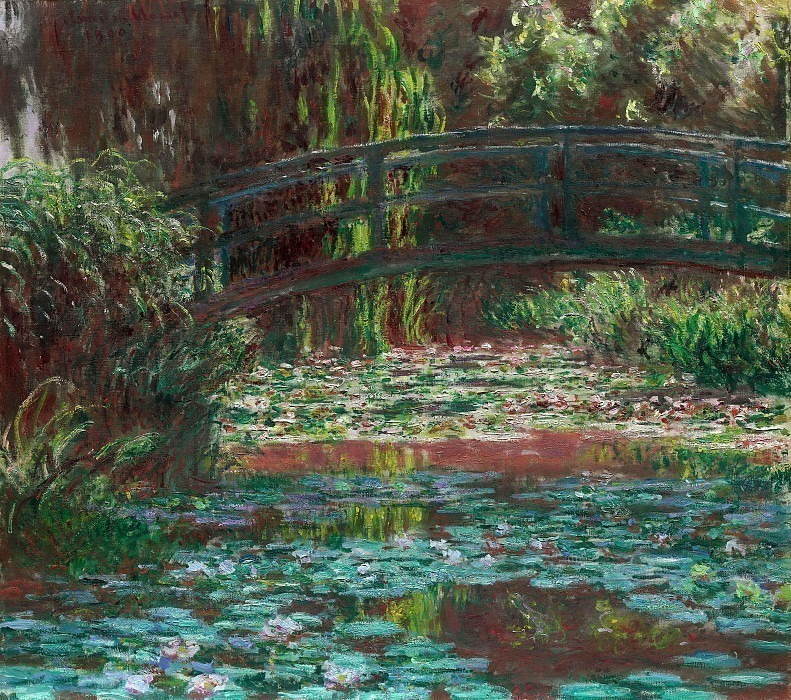 The Japanese Bridge (The Bridge over the Water-Lily Pond). Claude Oscar Monet