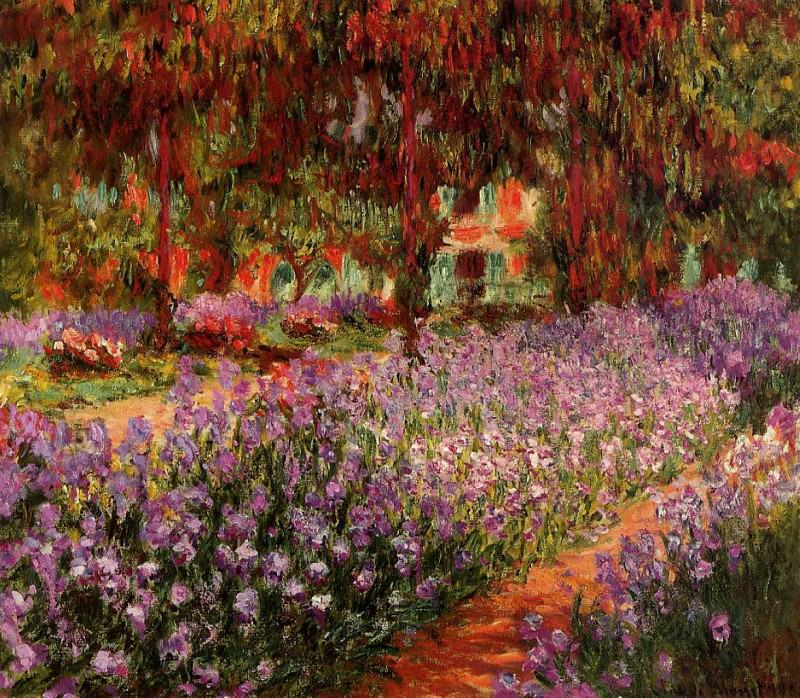 Irises in Monet's Garden 02. Claude Oscar Monet