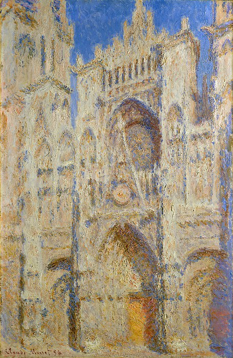 Rouen Cathedral, Portal in the Sun. Claude Oscar Monet