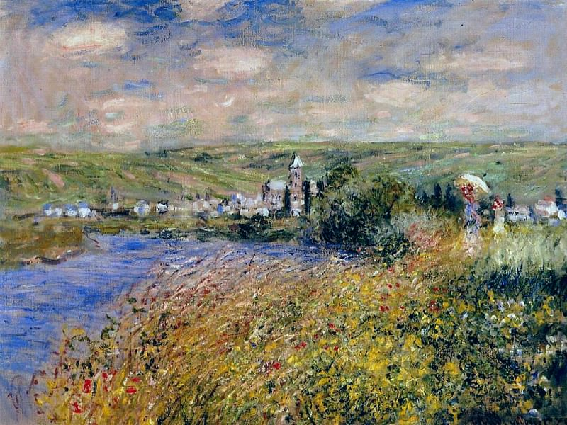 Vetheuil Seen from Ile Saint Martin. Claude Oscar Monet