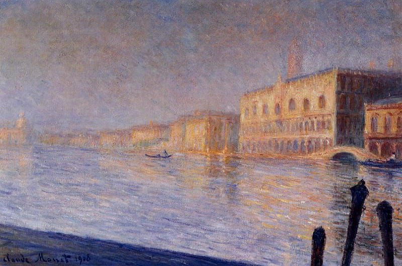 The Doges' Palace. Claude Oscar Monet