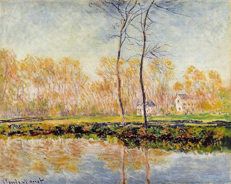 The Banks of the River Epte at Giverny. Claude Oscar Monet