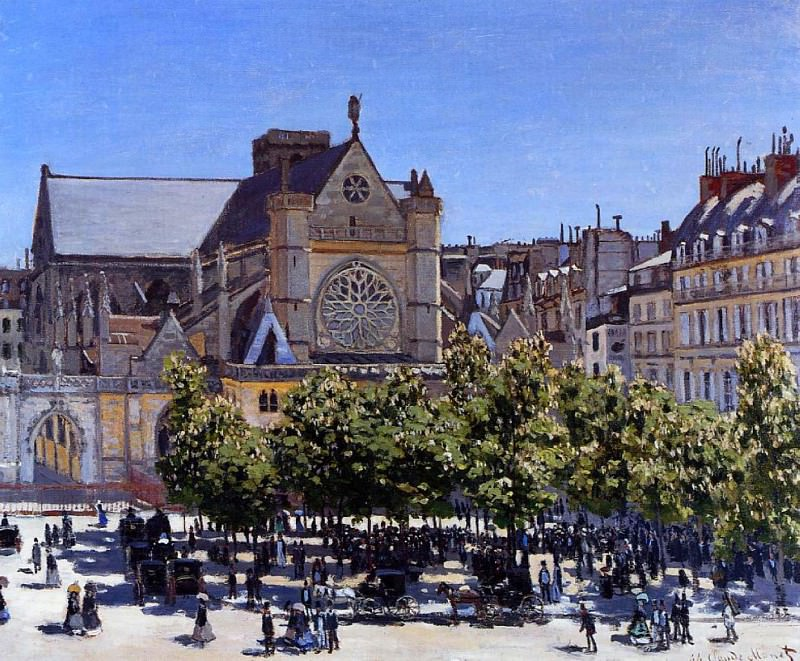 Saint Germain l'Auxerrois. Claude Oscar Monet