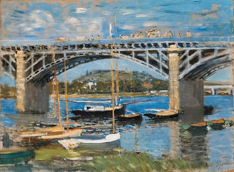 The Bridge over the Seine. Claude Oscar Monet