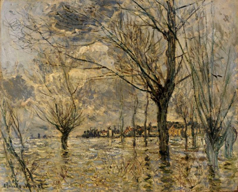 Vetheuil, L'Inondation. Claude Oscar Monet