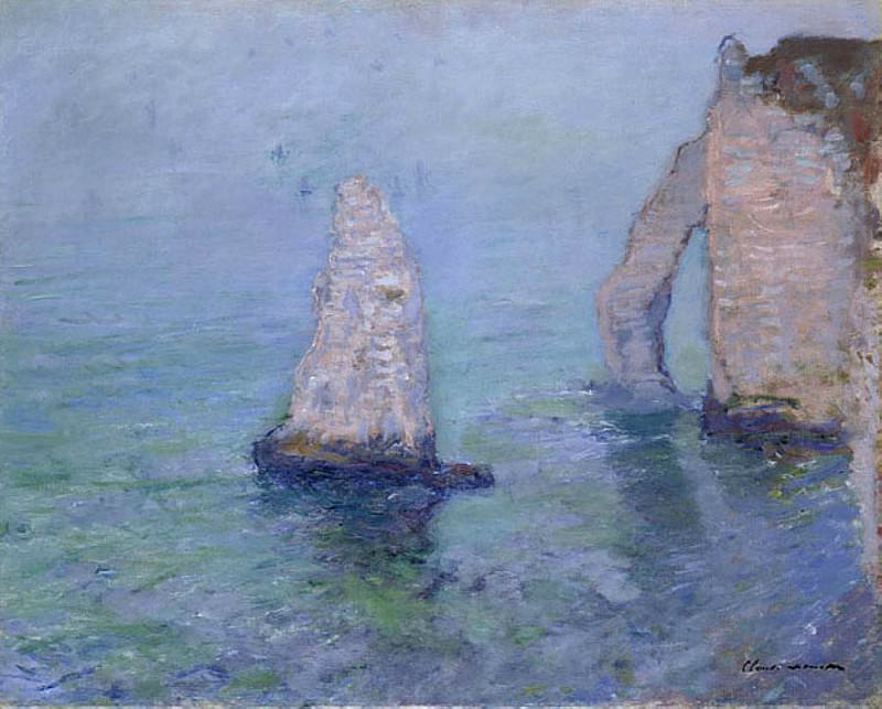 The Rock Needle and Porte d'Aval, Etretat. 1885. Claude Oscar Monet