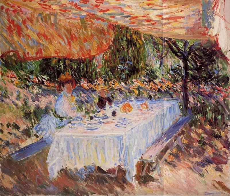 Luncheon under the Canopy. Claude Oscar Monet