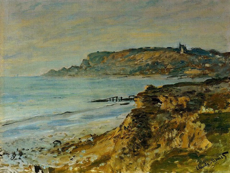 Cliff at Sainte-Adresse. Клод Оскар Моне