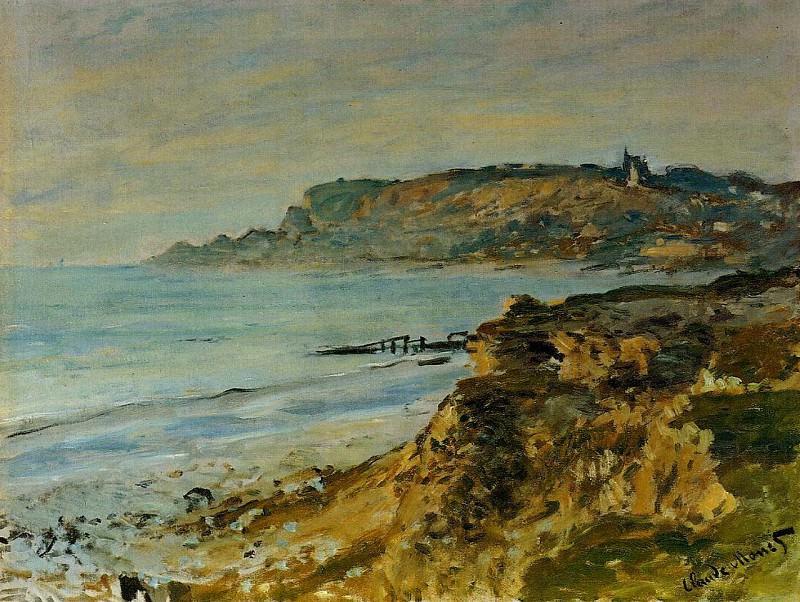 Cliff at Sainte-Adresse. Claude Oscar Monet