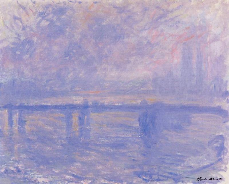 Charing Cross Bridge 09. Claude Oscar Monet