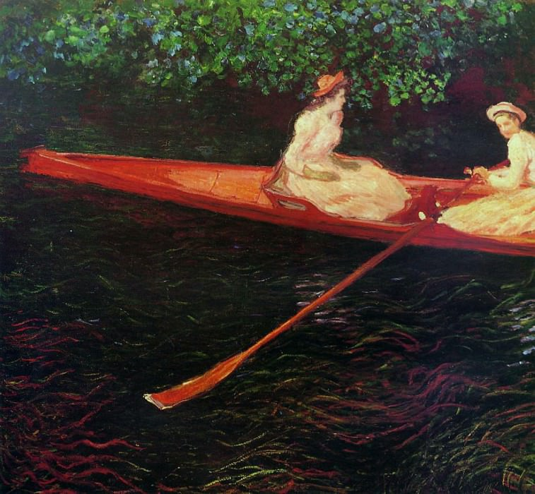 The Pink Skiff, Boating on the Ept. Claude Oscar Monet