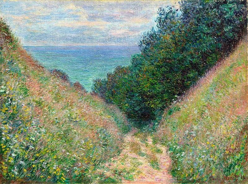 Path at La Cavee, Pourville. Claude Oscar Monet