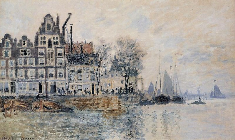 View of Amsterdam. Claude Oscar Monet