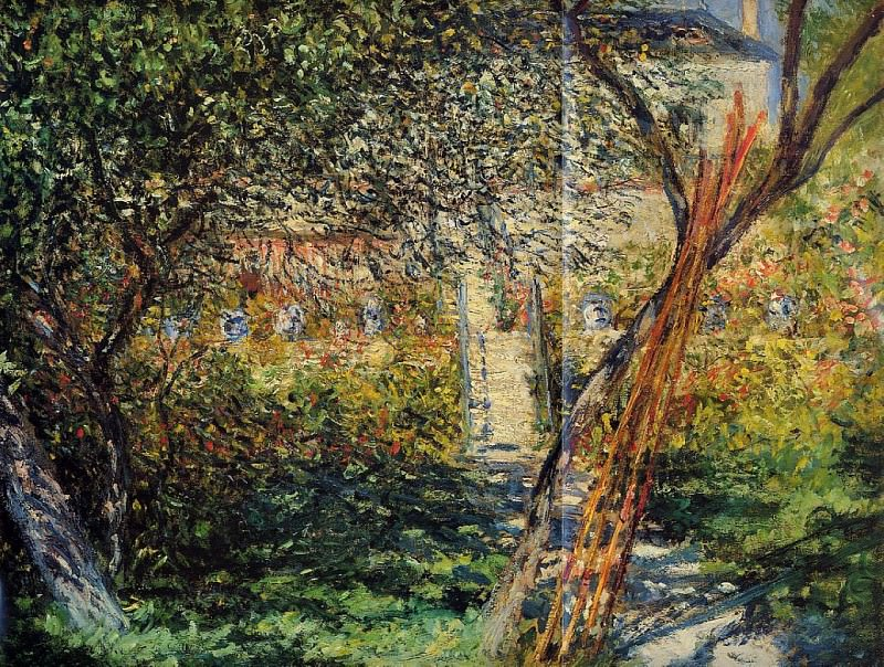 Monet's Garden at Vetheuil. Claude Oscar Monet