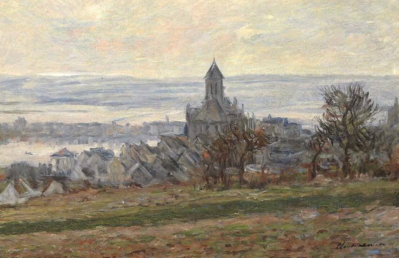 L'Eglise de Vetheuil. Клод Оскар Моне