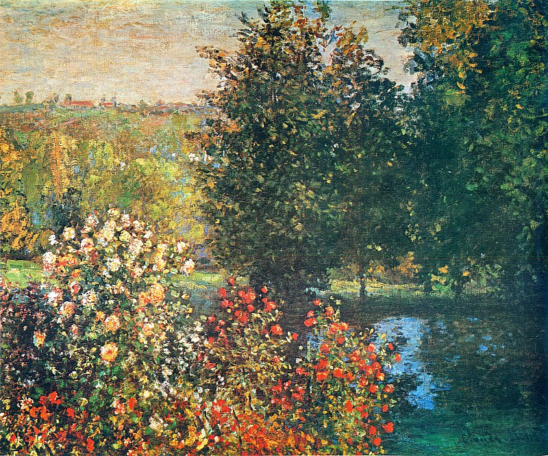 Roses in the Hoshede`s Garden at Montregon. Claude Oscar Monet