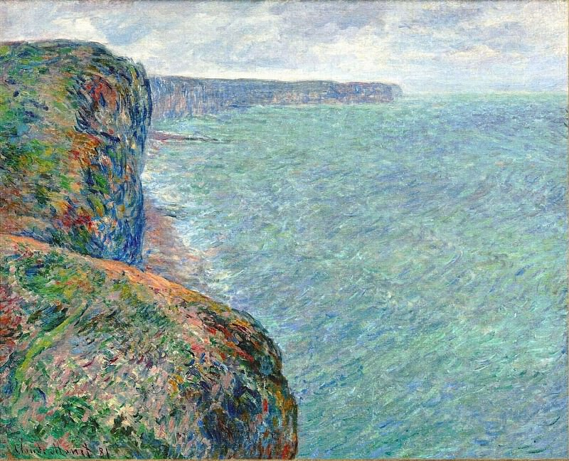 The Sea Seen from the Cliffs of Fecamp. Claude Oscar Monet