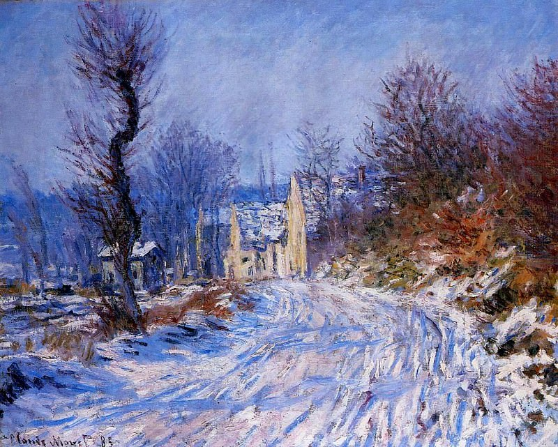 Road to Giverny in Winter. Claude Oscar Monet