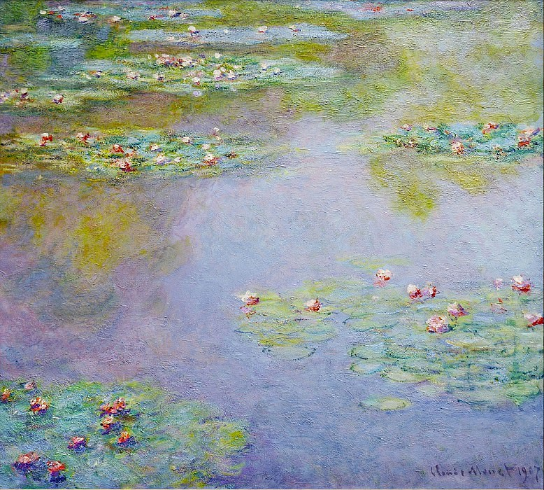 Water Lilies, 1907 01. Claude Oscar Monet