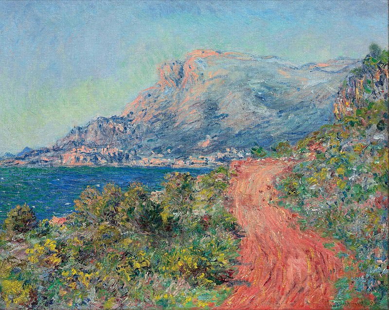 The Red Road near Menton. Claude Oscar Monet