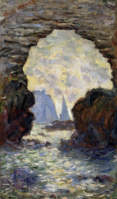 The Rock Needle Seen through the Porte d'Aumont. Claude Oscar Monet