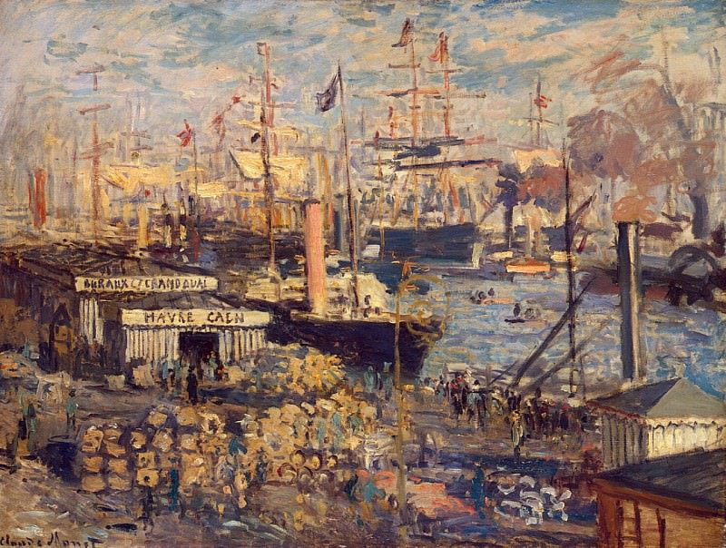The Grand Dock at Le Havre (Le Grand Quai au Le Havre). Claude Oscar Monet