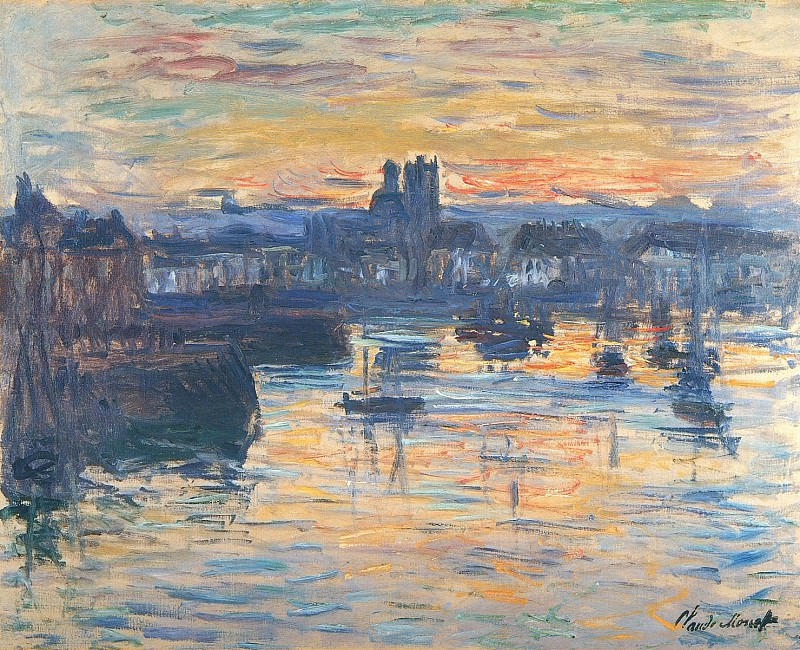 Port of Dieppe, Evening. Claude Oscar Monet