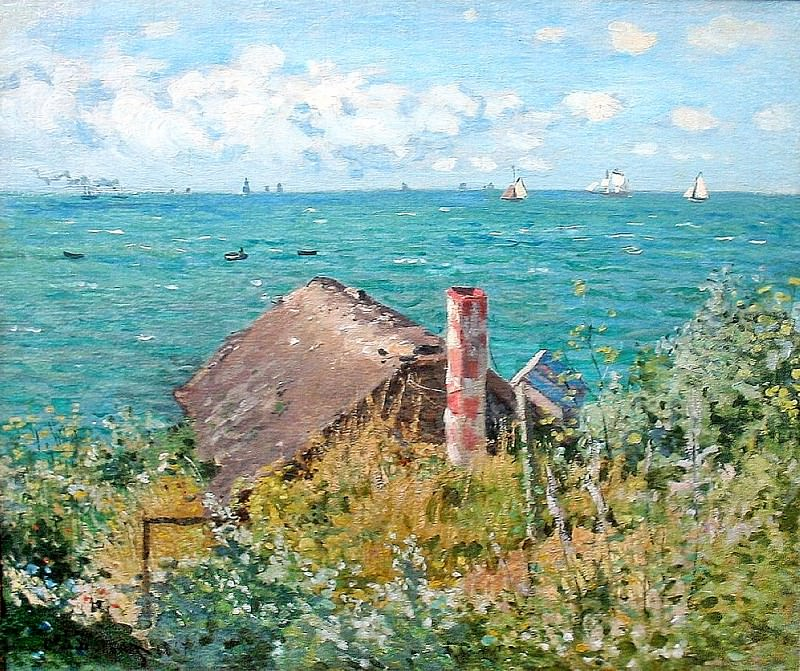 The Cabin at Saint-Adresse. Claude Oscar Monet