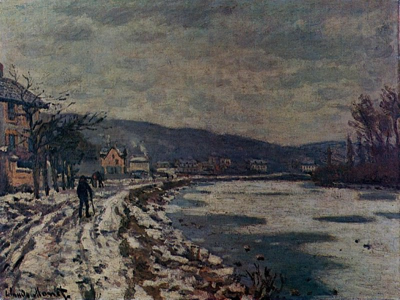 The Seine at Bougival. Claude Oscar Monet