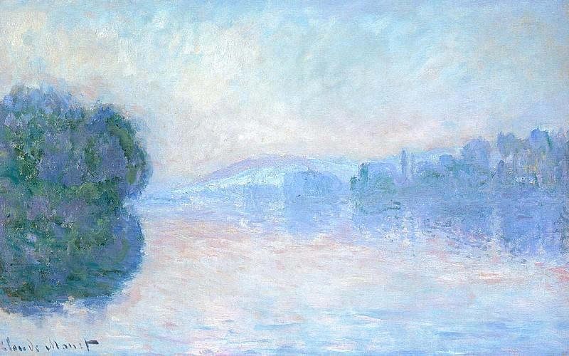 The Siene near Vernon. Claude Oscar Monet